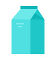 box vegetable milk flat isolated vector image