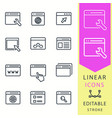 browser - line icon set editable stroke vector image vector image