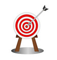 business hitting arrow to center target vector image vector image