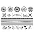 calligraphy ornaments and border on white vector image vector image