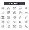 car parts line icons signs set outline vector image vector image