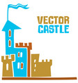 castle sign vector image