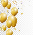 celebration background with gold confetti vector image vector image