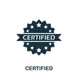 certified icon symbol creative sign from vector image