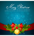 Christmas celebration sparkling postcard vector image vector image