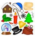 christmas symbol set icon design winter isolated vector image vector image