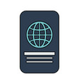 closed passport out icon imag vector image vector image
