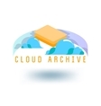 cloud archive vector image