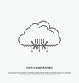 cloud computing data hosting network icon line vector image vector image