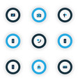 communication icons colored set with mobile vector image