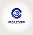 core studio internet logo design symbol icon vector image