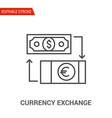 currency exchange icon thin line vector image vector image