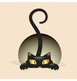 Cute little black kitty vector image vector image