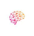 digital brain logo icon design vector image vector image
