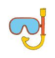 diving mask symbol vector image vector image