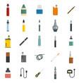 electronic cigarette mod cig icons set flat style vector image