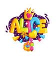 emblem alice vector image vector image