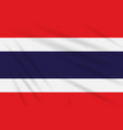flag thailand swaying in the wind realistic vector image vector image