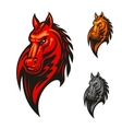 Flaming horse head for sporting mascot design vector image vector image