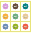 flat icons set of column chart and currency vector image vector image