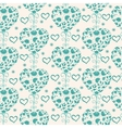 floral vintage seamless pattern with hearts vector image vector image