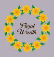 floral wreath design vector image vector image