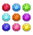Funny cartoon colorful gems set vector image vector image