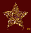 gold star elegant golden confetti red and gold vector image