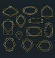 golden poligonal frames vector image vector image