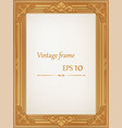 golden vintage wood frame vector image