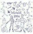 Hand drawn gym people vector image