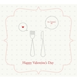 happy Valentine fork and knife vector image vector image