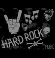 heavy rock music badge background vintage vector image vector image