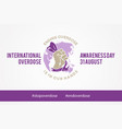 international overdose vector image