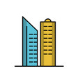 isolated building icon line design vector image vector image