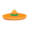 isolated traditional mexican hat vector image vector image