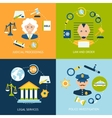 Law flat icons set vector image vector image