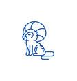 leo zodiac sign line icon concept leo zodiac sign vector image vector image