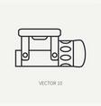 line flat diver underwater equipment icon vector image