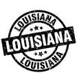 louisiana black round grunge stamp vector image vector image
