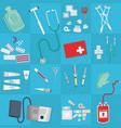medical equipment flat web and print doctor vector image