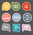 modern sale stickers collection 6 vector image vector image