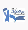 national child abuse prevention month vector image