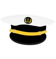 Navy captain cap vector image