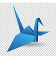 origami paper bird polygonal vector image vector image