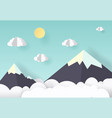paper art and craft style of vector image vector image