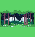 paper cut trees ecology concept with nature vector image vector image