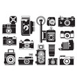 pictures set of retro cameras monochrome vector image vector image