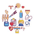 pregnancy icons set cartoon style vector image vector image