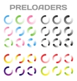 Preloaders Loading And Buffering Icon Set vector image vector image